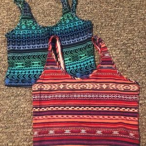 Two Forever 21 Crop Tops